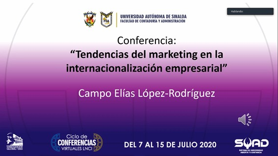 CONFERENCIA TENDENCIAS DEL MARKETING EN LA INTERNACIONALIZACIÓN EMPRESARIAL